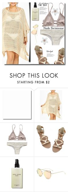"""Nude swimwear"" by soks ❤ liked on Polyvore featuring Bobbi Brown Cosmetics and polyvoreeditorial"