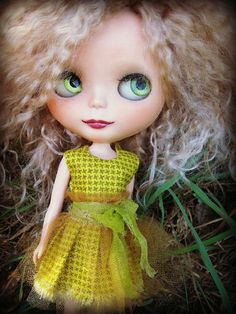 Blythe Acid Green Cotton Dress. $28.00, via Etsy.