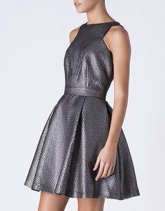 Vestido jacquard metalizado | Promoción todo -50% | SHOP ONLINE SUITEBLANCO.COM