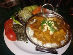 An amazing curry served at the Galatea, Glastonbury