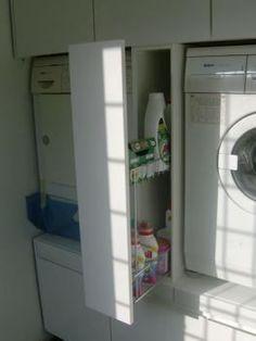 Kast voor wasmachine/droger met div. opbergmogelijkheden