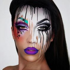 Face painting examples are very useful in the art of face painting. One of the greatest things about face painting examples, is that there are many reference Sfx Makeup, Costume Makeup, Makeup Art, Alien Makeup, Devil Makeup, Rave Makeup, Witch Makeup, Scary Makeup, Maquillaje Halloween