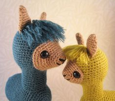 ** CUTE ALERT ** Alpaca Family Amigurumi – get the pattern! #crochet #amigurumi #etsy #pattern