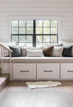 DIY Window Bench Seat / Reading Nook | Jenna Sue Design Blog