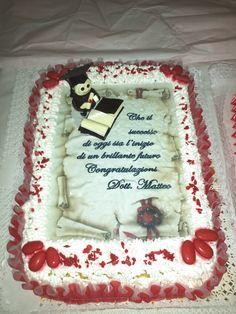 decorazione per torta laurea