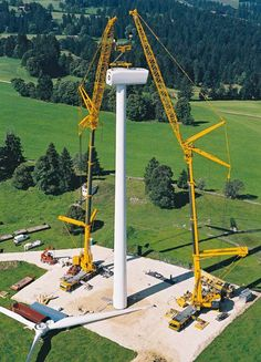 I have a friend who works around these heavy duty cranes that are installing  wind turbines.  The size of all the machinery just blows my mind.