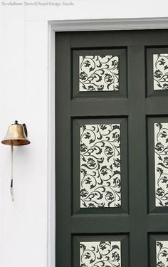 Open Up To Painting Your Door With Stencil Designs From Royal Design Studio    7 DIY Decorating Ideas