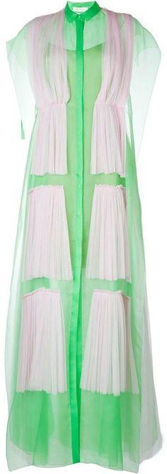 Delpozo pleated overlay shirt dress- 7112style.website -