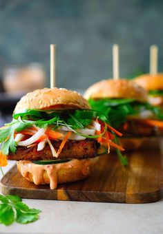 These tofu banh mi vegan sliders are packed with flavour and a twist on the classic. They're great as appetizers for a party, or as a delicious dinner.