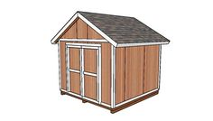 10x10 Shed Plans - DIY Step by Step | HowToSpecialist - How to Build, Step by Step DIY Plans 10x10 Shed Plans, Diy Shed Plans, Storage Shed Plans, Wood Storage Sheds, Wood Shed, Diy Storage, Small Storage, Tool Storage, Outdoor Storage