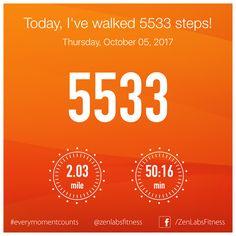 Thursday, October 05, 2017 - 5533 steps