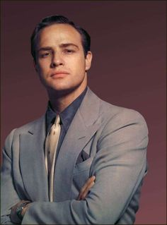 Marlon Brando. He actually almost looks like Tom Hardy (or I guess Tom Hardy has always looked like Brando! Hot.)