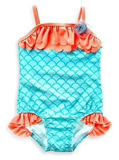 9228c170844 Baby Buns Little Girls  One-Piece Mermaid Swimsuit 4T Baby Bunz http