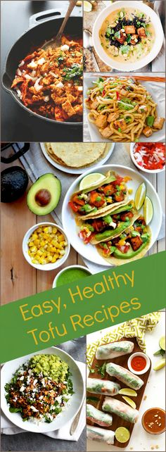 Tofu is a healthy alternative to meat products. With these easy,  healthy vegan or vegetarian recipes you can make a healthy, filling meal for your family all meat-free and protein filled using tofu.