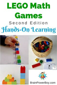 Learn math with LEGO! LEGO Learning Math Games are a great way to get kids learning.
