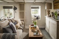 """This romantic stone cottage called """"The Poet's Hideaway"""" is a luxury moorland retreat in St Breward, a village in Cornwall, United Kingdom. Country House Interior, Cottage, Stone Cottage, Home, Open Plan Living Room, House Interior, Self Catering Cottages, Cottage Living Rooms, Cottage Living"""