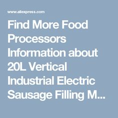 Find More Food Processors Information about 20L Vertical Industrial Electric Sausage Filling Machine Stuffer Machine ,High Quality machine machine,China machine filling Suppliers, Cheap machine industrial from Guangzhou Sanyue Food Machinery Co.,Ltd on Aliexpress.com