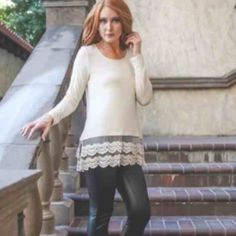 Long sleeve super soft top lace extender Long sleeve super soft top lace extender Tops Tees - Long Sleeve