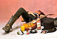 The funniest about this image is that Slash actually passed out during the shoot.
