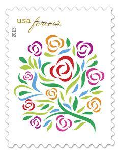USPS Forever Stamp Designs | ... white satin ribbons spell love on this USPS wedding forever stamp