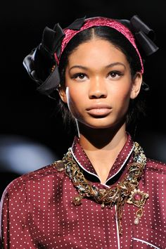 Beautiful Chanel Iman - a fashion model of Korean and African American descent.
