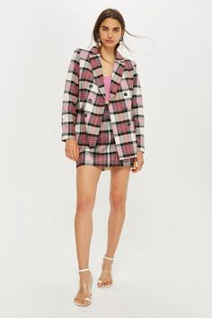 Jacket and Tartan Pelmet Skirt Set