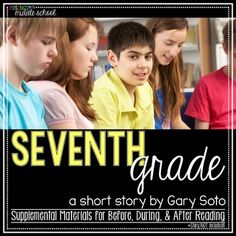 """""""Seventh Grade"""" by Gary Soto - 10 Comprehension Questions ..."""