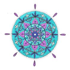 100 Days of Mandalas day 44. Another one which will be put into print. #mandala