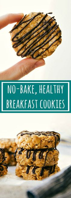 No bake, healthy, and easy breakfast cookies: