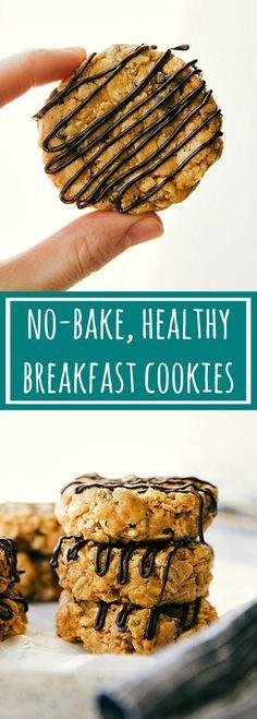 No bake, healthy, and easy breakfast cookies: