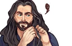 1/3 The Durin's Braiding - Thorin isn't looking impressed by the fact he hasn't done his braid to his majestic level !