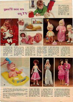 1977 Aldens Doll Toys, Baby Dolls, Dolls Dolls, Retro Ads, Vintage Advertisements, Blue Plumbago, 1970s Dolls, Toy Catalogs, Christmas Catalogs