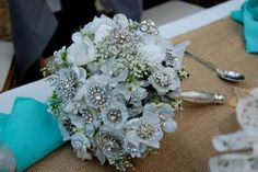 The bouquet my mom made for my sisters wedding!