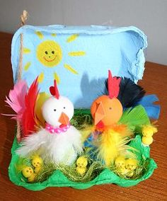 Event activity or decorations for the younger generation, pehaps. Easter Egg Crafts, Easter Eggs, Easter Egg Competition Ideas, Easter Bonnets For Boys, Egg Carton Crafts, Easter Egg Designs, Diy Ostern, Easter Activities, Easter Holidays