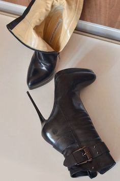 Beige Boots, Black High Boots, Leather High Heel Boots, Black Leather Boots, Heeled Boots, Extreme High Heels, Moon Boots, Nylons Heels, Stiletto Shoes