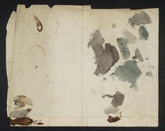 'Watercolour and Ink Tests', Joseph Mallord William Turner, c.1810–28 | Tate Turner Watercolors, Joseph Mallord William Turner, Color Test, Artist Sketchbook, Watercolor And Ink, Painting & Drawing, Fiber Art, Abstract Art, Sketches