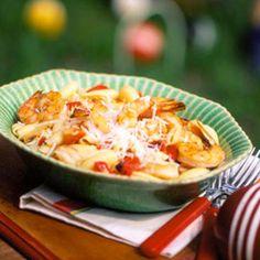 garlic and shrimp pasta
