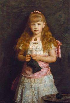 Princess Marie of Edinburgh, painted by J.E.Millais