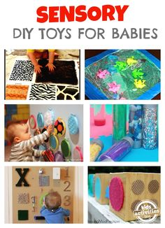 Simple homemade sensory toys :D Excellent list