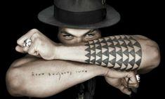 Jason Momoa Tattoo - use in Fibonacci sequence up arm