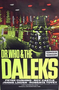 Dr Who and The Daleks 8x10 11x17 16x20 24x36 27x40 Vintage Movie Poster A | eBay