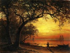 Albert Bierstadt Island of New Providence painting for sale, this painting is available as handmade reproduction. Shop for Albert Bierstadt Island of New Providence painting and frame at a discount of off. Oil Painting On Canvas, Painting Prints, Canvas Art, Landscape Art, Landscape Paintings, Albert Bierstadt Paintings, Hudson River School, Oil Painting Reproductions, American Art