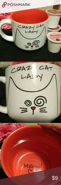 😸Crazy Cat Lady Cup Cute cup can be used for coffee cocoa or anything you like. Great condition no chips. Heavy , dishwasher safe , ceramic. Other