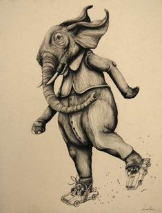 Vengeful Animal Illustrations - Nature Gets Back at Humans in Ericailcane's Art Exhibit (GALLERY)