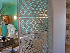 Carve Out a Workspace - Make Space With Clever Room Dividers  on HGTV  like the playing cards on the walls