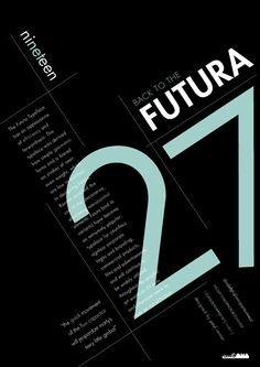 A typeface specimen poster based on the Futura typeface.