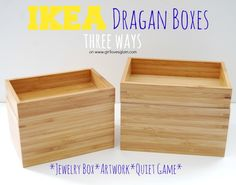 Ikea Dragan Box makeover with Studio 5. Make modern, geometric neon artwork. Make a jewelry box, and make a quiet game for your kids in the car!