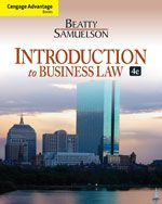 Solution Manual for Introduction to Business Law 4th Edition by Beatty  ISBN 113318815X 9781133188155 INSTRUCTOR SOLUTION MANUAL VERSION  http://solutionmanualonline.com/product/solution-manual-introduction-business-law-4th-edition-beatty-isbn-113318815x-9781133188155-instructor-solution-manual-version/