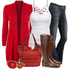 """""""Long cardigan and Boots for fall"""" by hvershure on Polyvore"""