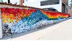 'When the Beach Met the Bay,' a public-art mural of 24,000 (!) bottle plastic caps collected by kids in Long Beach, New York, for Project Vortex with artist Lisa Be. This shot by Be is just a portion of the mural - see the rest of the slideshow on the Inertia site.